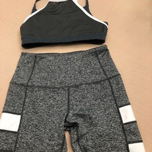 Zella sports bra and leggings